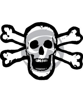 Non-Iridescent Skull and Crossbones Decal
