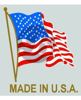 Non-Iridescent Made in USA Flag Decal