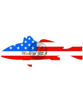 Non-Iridescent Fish Flag - Made in USA (Gold) Decal